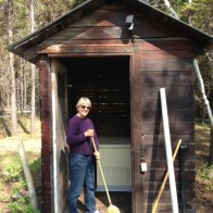 Debo cleaning generator shed