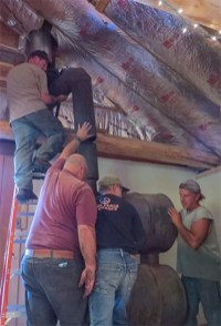 Installing the wood stove