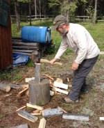 Bill splitting wood