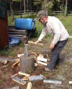 Bill splitting wood