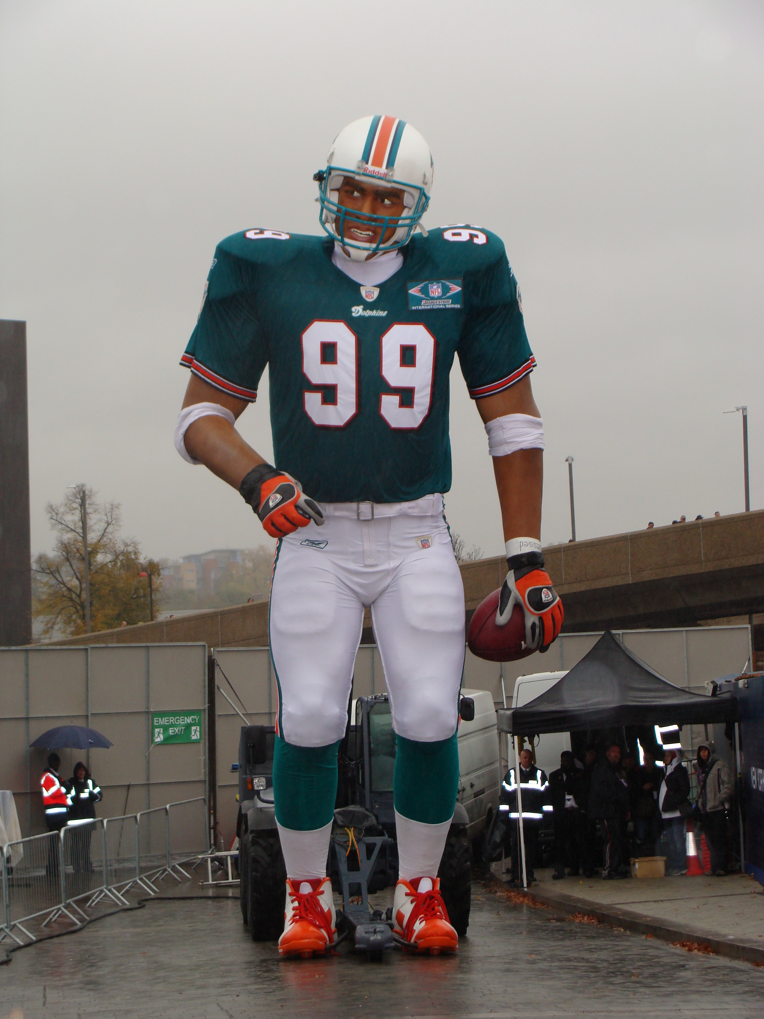 My own pic of the 40ft Jason Taylor outside Wembley Stadium in 2007