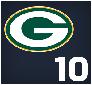 Green Bay Packers : 10