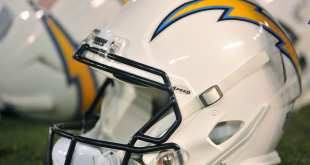 Chargers-Helmet-2 Chargers Sign Rookie C Barrett Gouger Following Tryout