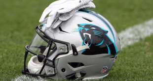 Panthers-Helmet-6 Panthers Sign OT Korren Kirven, Waive TE Kent Taylor