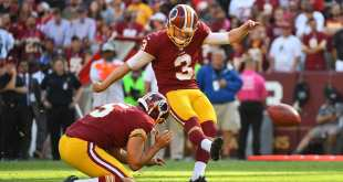 USATSI_10348881_168383805_lowres Redskins Placing K Dustin Hopkins On Short-Term IR, Signing K Nick Rose
