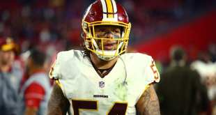 USATSI_9733947_168383805_lowres Redskins Placing LB Mason Foster On Injured Reserve