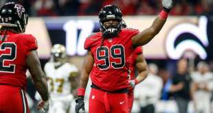 USATSI_10465531_168383805_lowres Patriots, Colts, Bucs, Browns & Falcons In The Mix For DE Adrian Clayborn