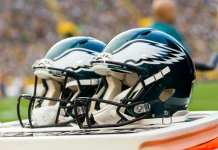 Eagles helmets