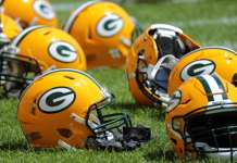 Packers helmet
