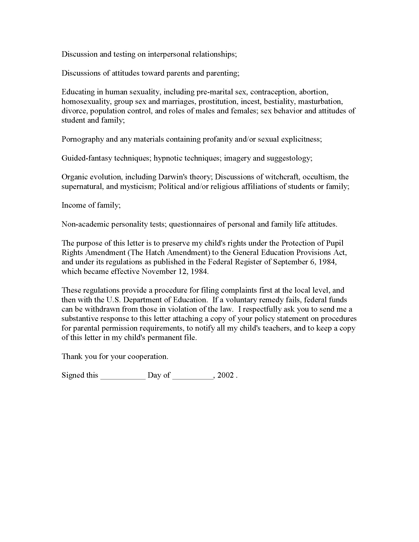 Sample Declaration Letter For Child Support