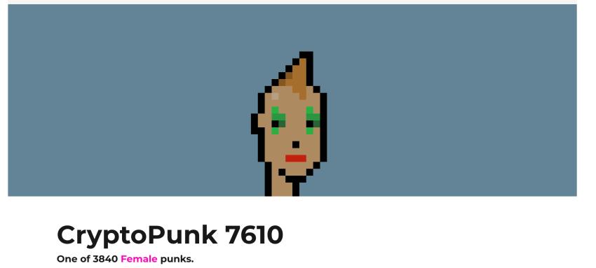 CryptoPunk #7610