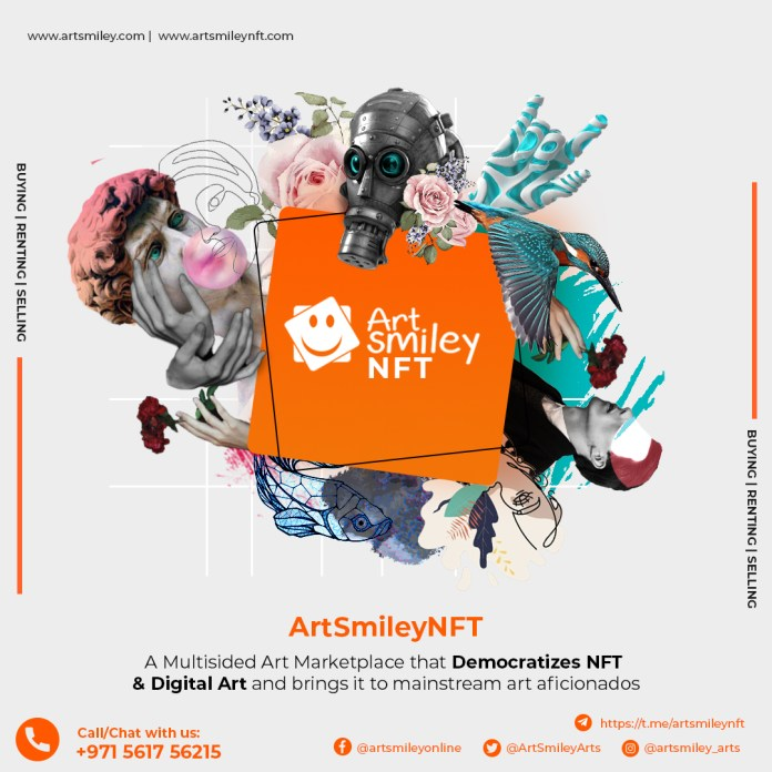 ArtSmiley – Innovative Art Marketplace for art lovers, collectors, and corporates, launching its Unique NFT art marketplace for Phygital works!!