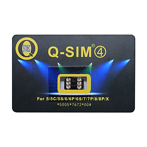 Sunsky Q-SIM 4 Perfect Solution For Ultra Thin Smart Decodable Chip To Sim Card, For IPhone X / 8 And 8 Plus / 7 And 7 Plus / 6 And 6 Plus / 6s And 6s Plus / 5 And 5C And 5s