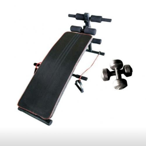 Universal Sit Up Bench With Exercise Rope Dumbbell Push Up