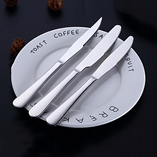 Sunsky 3 In 1 410 Stainless Steel Tableware Mirror Polishing Dinner Knife Set