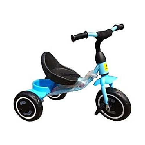 Generic Kids Tricycle With Carrier - Blue - 1-3 Years