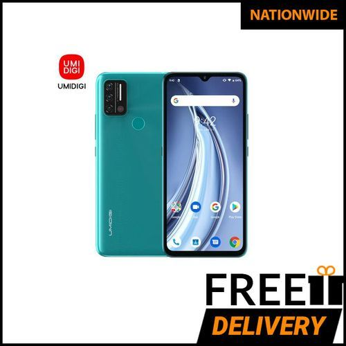 A9 Android 11 Infrared Temperature Sensor (13MP+8MP+2MP)+8MP 6.53-Inch (3GB,64GB ROM)5150mAh Global Version-PeacockGreen