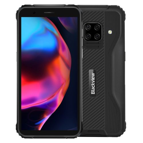 BV5100 Rugged Phone, 4GB+128GB, 5.7 Inch Android 10 Smartphone - Black