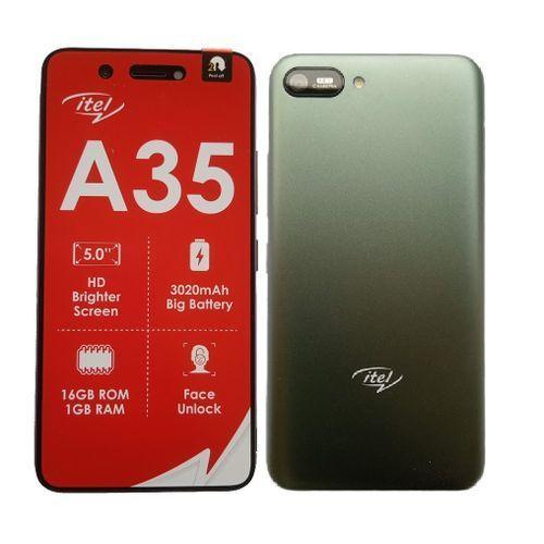 A35, Android 10, 5.0 HD, 5.0MP Rear+2.0mp Front Camera, 16GB ROM+1GB RAM, 3020mAh, Green