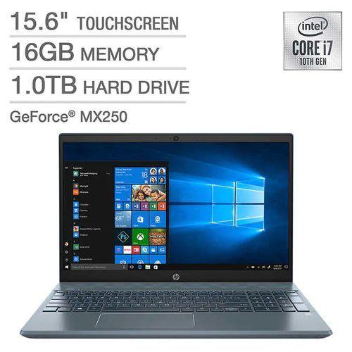 10th Gen Pavilion 15 Intel Core I7 1TB HDD 16GB RAM 4GB Nvidia Graphics Touch/Backlit Keyboard Win10
