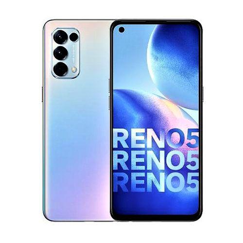"Reno 5 Fantasy Silver, 6.4"", 8gb Ram 128gb Rom, 64+8+2+2MP Rear, 44MP Selfie Dual Sim 4025 Mah Battery"