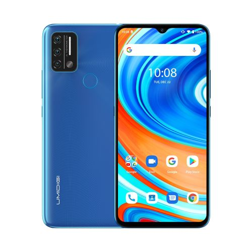 A9 Non-contact 3GB+64GB 5150mAh Battery 6.53 Inch Android 11 4G OTG Smartphone - Blue