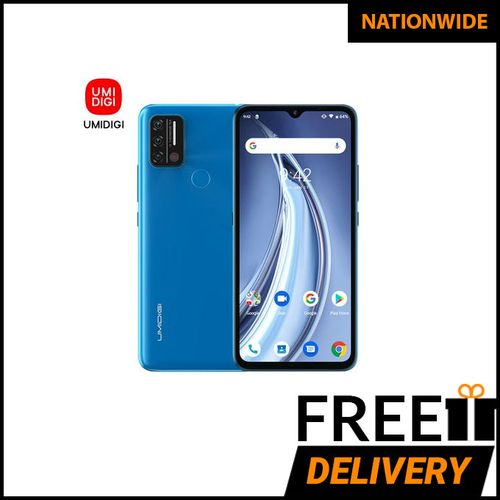 A9 Android 11 Infrared Temperature Sensor (13MP+8MP+2MP)+8MP 6.53-Inch (3GB,64GB ROM)5150mAh Global Version-Sky Blue