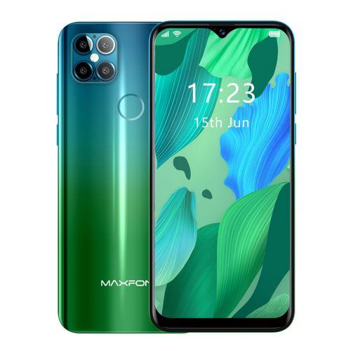 MAX 5X 3200mAh Camera With Flash Water Drop Screen Dual Sim Fingerprint Android Phone - Emerald Green