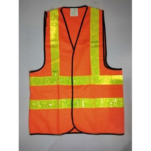 Reflective Safety Vest Premium Brand - Orange. By 4 Pieces