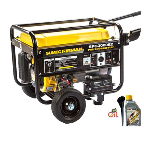 FIRMAN 4.5Kva SPG 3000E2 Generator, Key Starter With Tyre And Handle