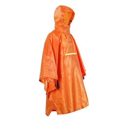 Waterproof Poncho Bike Cycling Bicycle Reflective Strips Orange