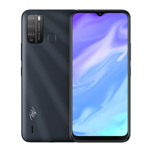 "S16 6.5"" HD FullScreen, 16GB ROM + 1GB RAM, Android 10, 4000mAh, 8MP Triple Rear Camera, Face ID & Fingerprint - Black"