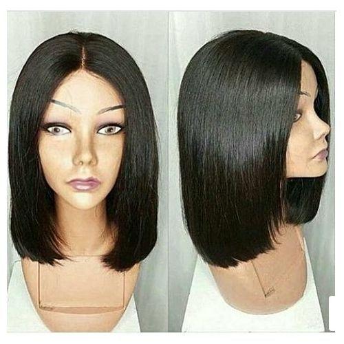Hair Wig Bob Cut Middle Part Wig - Natural Colour