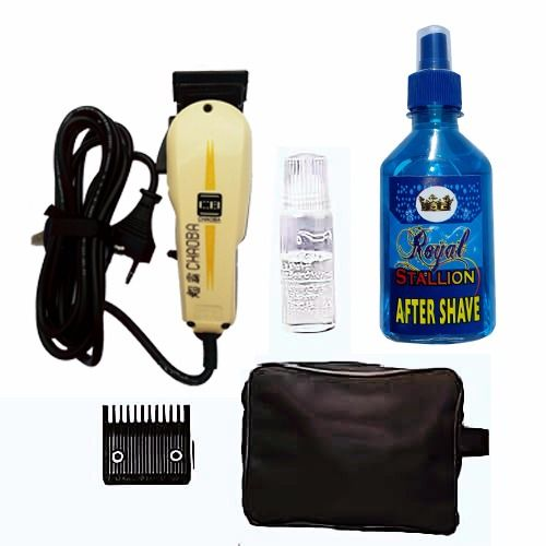 Professional Hair Clipper With Aftershave & Bag