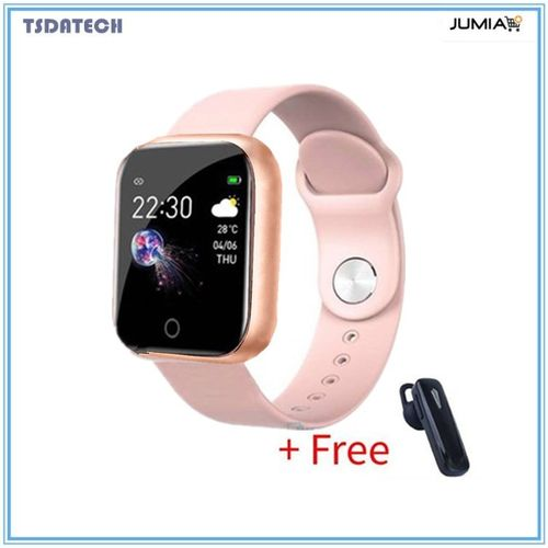 New I5 Smart Watch Women Men Smartwatch For Android IOS Electronics Smart Clock Fitness Tracker-Pink