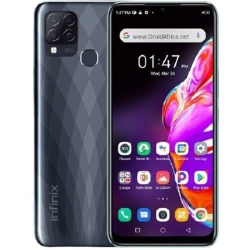 "Hot 10T - 6.82"" HD+ (4GB RAM,64GB ROM) - Android 11 (48/2/2)MP + 8MP Selfie - Dual Sim - 4G LTE - 5000mAh - Black"