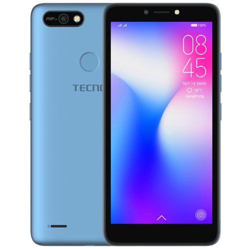 "POP 2F (B1G) 5.5"" Android 8.1, 16GB ROM + 1GB RAM, 8+5MP Beauty Camera, Fingerprint, Face ID, 2400mAh Battery - Blue"