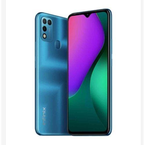 """Hot 10 Play (X688B) 6.82"""" HD+, 4GB RAM + 64GB ROM, 6000mAh Battery, Android 10, 13MP Dual Camera, 4G, Fingerprint - Blue"""