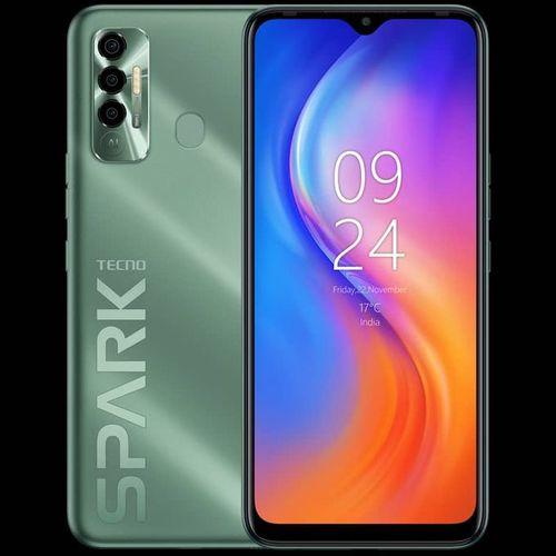 "Spark 7 P (KF7j) 6.8"" HD+, 64GB ROM +4GB RAM, 16MP Triple Camera, 5000mAh, Helio G70, 4G, Fingerprint Spruce Green"
