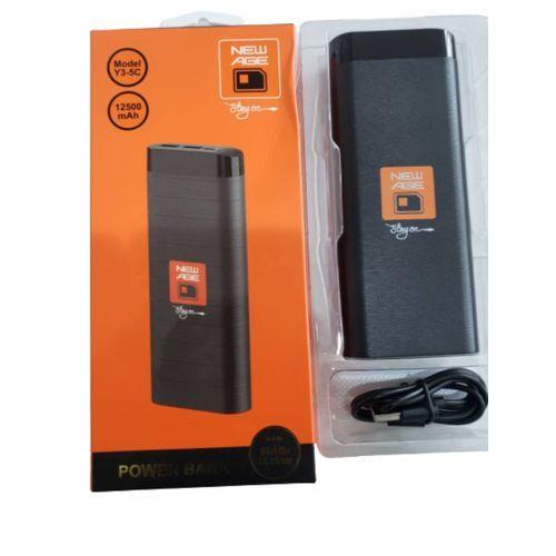 Black 12500mAh Powerbank