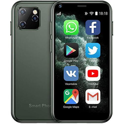 Mini 2.5 Inch Android Smart Phone Quad Core 1G+8G Dual SIM High Definition Mini Phones-Dark Green