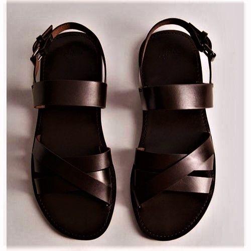 Men's Premium Leather Sandal - Brown
