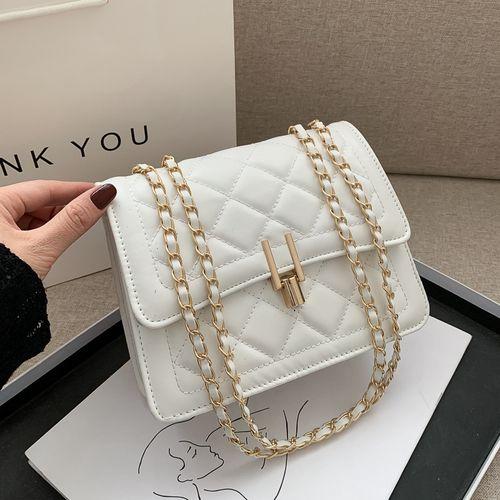Ladies Leather Mini Hand Bag - White