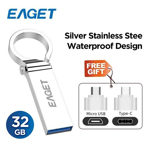 Pen Flash Drive 3.0 32GB - Metal OTG Micro USB Type-C