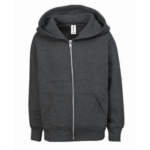 Children's Zip Up Hoodie- Dark Grey