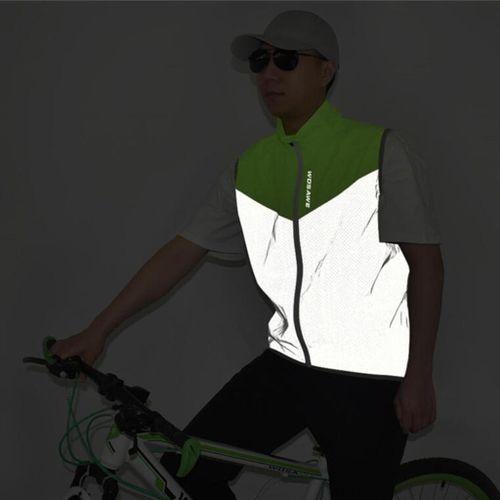 Summer Cycling Reflective Vest Coat Lightweight Mesh Running Gilet XXL