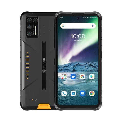 BISON GT Rugged Phone 64MP Camera 8GB+128GB 5150mAh Battery 6.67 Inch Android 10 4G Smartphone - Yellow
