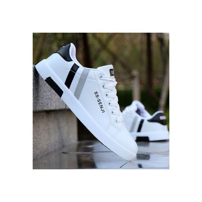 product_image_name-Fashion-Men's Quality Fashion Classic Sneakers-White/Black-1