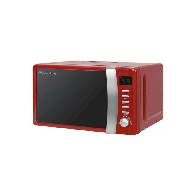colours plus 17 litre compact digital microwave red black