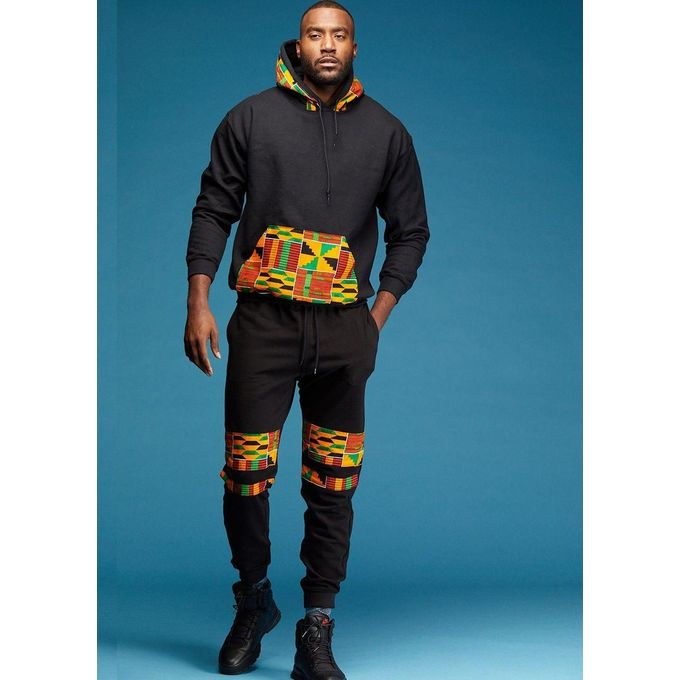product_image_name-Fashion-Black Hoodie And Joggers With Kente-1